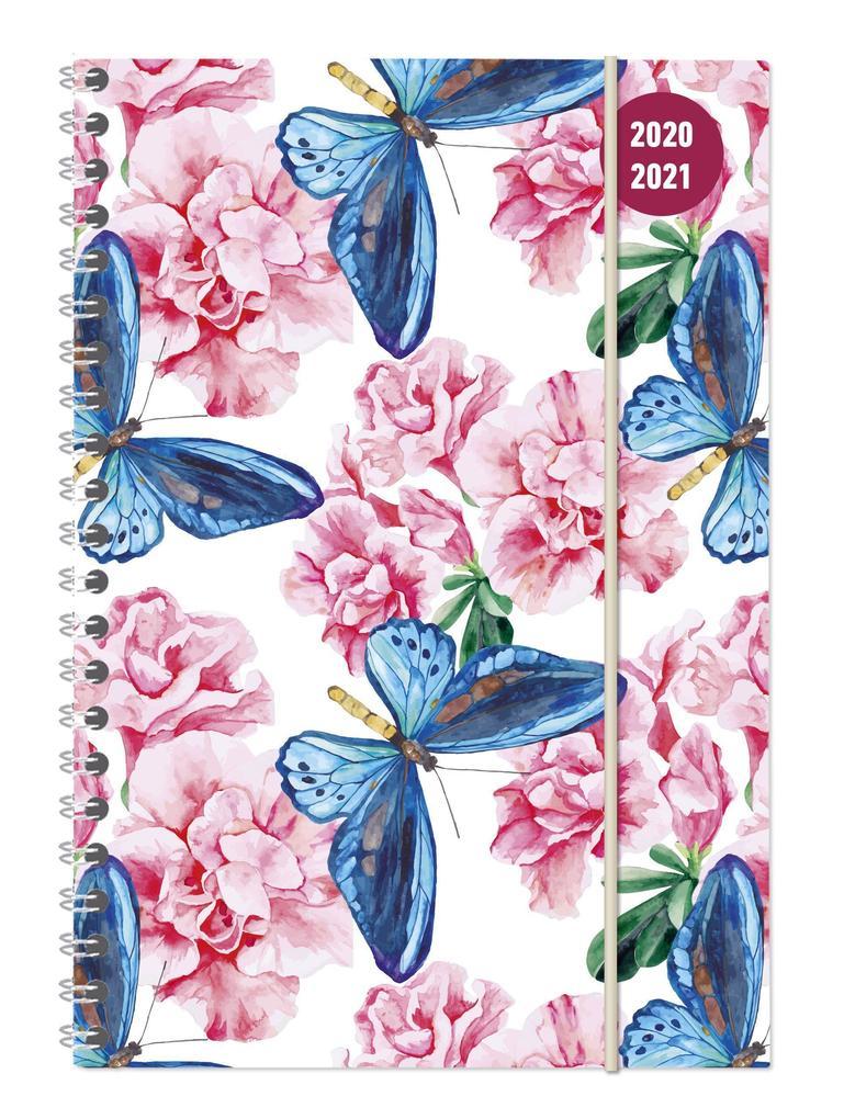 Collegetimer Butterfly 2020/2021 - Schüler-Kalender A5 (15x21 cm) als Kalender