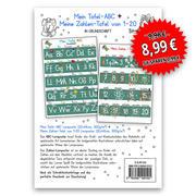Mein Tafel-ABC Grundschrift + Meine Zahlen-Tafel von 1-20, 2 Lernposter, glänzend, 300g, 32 x 46 cm