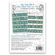 Mein Tafel-ABC Grundschrift mit Artikeln + Meine Zahlen-Tafel von 1-20, 2 Lernposter, glänzend, 300g