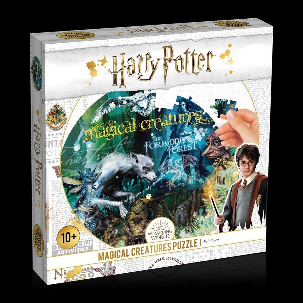 Image of Puzzle Harry Potter Magical Creature 500 Teile Puzzle weiß