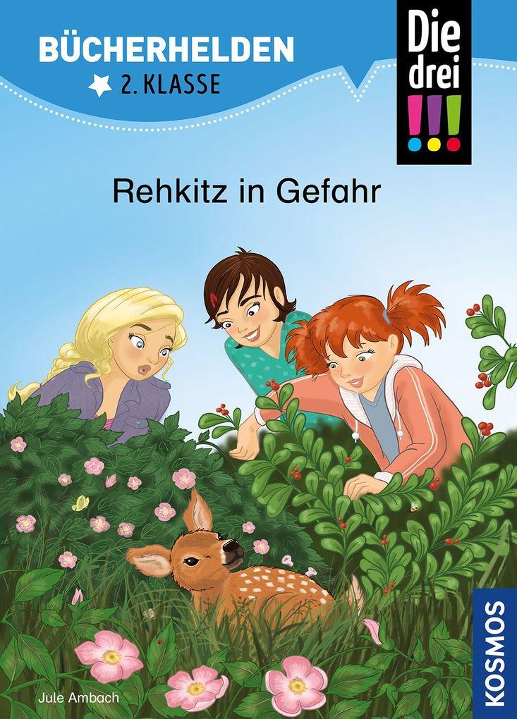 Die drei !!!, Bücherhelden 2. Klasse, Rehkitz in Gefahr als Buch (gebunden)