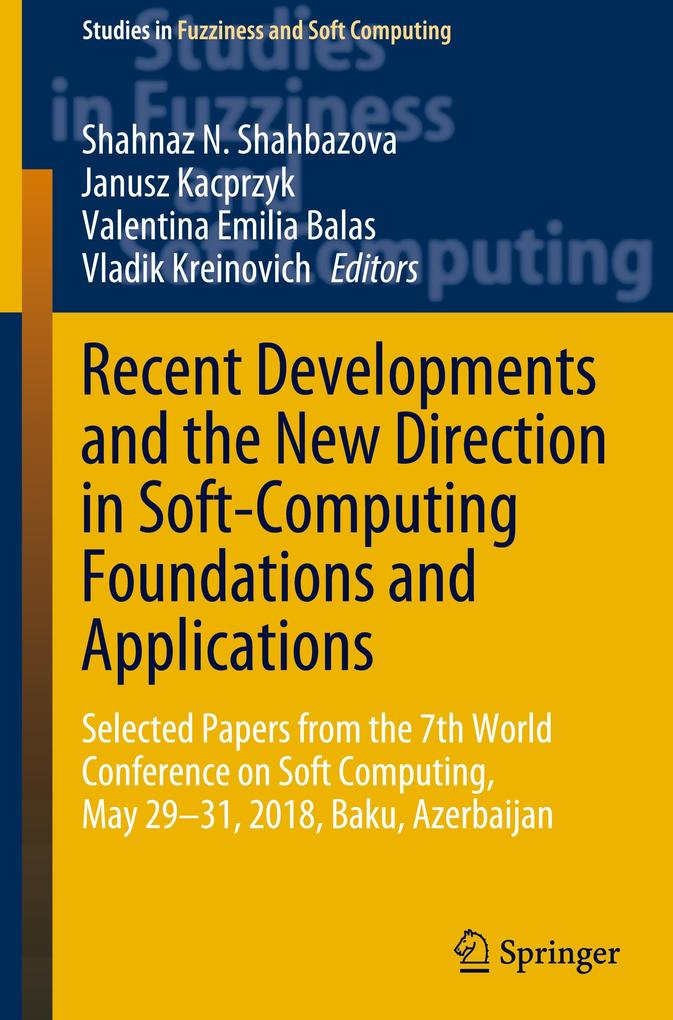 Recent Developments and the New Direction in Soft-Computing Foundations and Applications als Buch (gebunden)