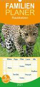 Raubkatzen - Familienplaner hoch (Wandkalender 2021 , 21 cm x 45 cm, hoch)