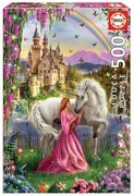 Educa Puzzle. Fairy and Unicorn 500 Teile