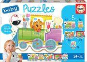 Educa Puzzle. Baby Puzzles Animal Train 2x2/2x3/4Teile