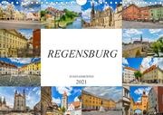 Regensburg Stadtansichten (Wandkalender 2021 DIN A4 quer)