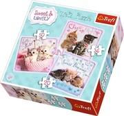 3 in 1 Puzzle - Katzen (Kinderpuzzle)