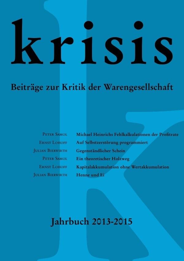 Krisis - Jahrbuch 2013 - 2015 als Buch (kartoniert)