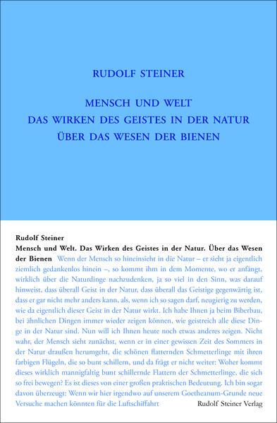Mensch und Welt. Das Wirken des Geistes in der Natur - über das Wesen der Bienen als Buch (gebunden)