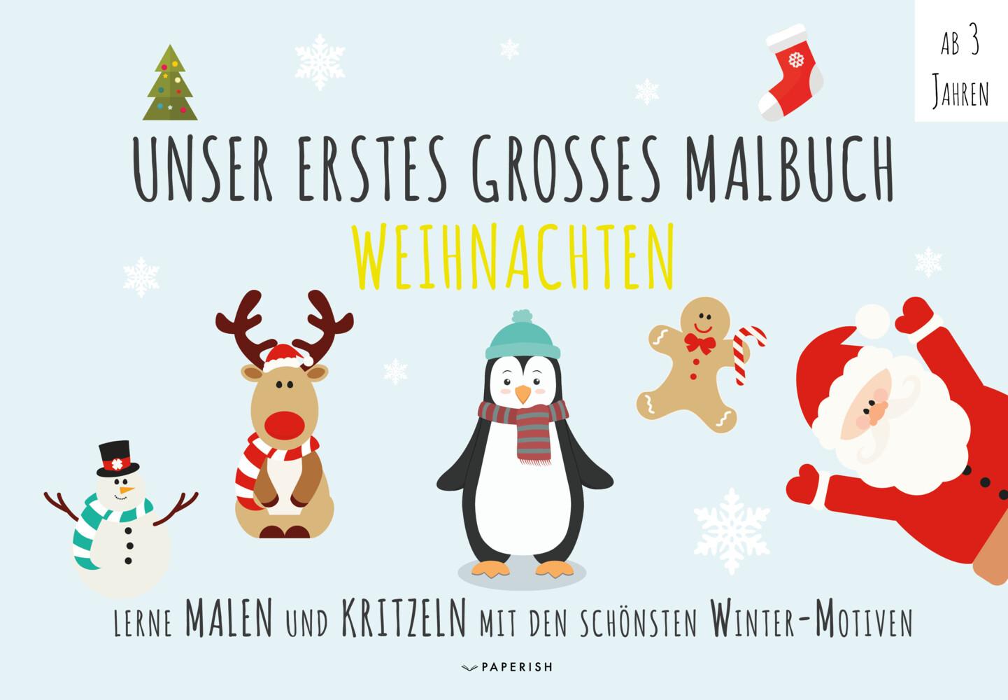 Image of Malbuch Winter - UNSER ERSTES GROßES MALBUCH - WEIHNACHTEN