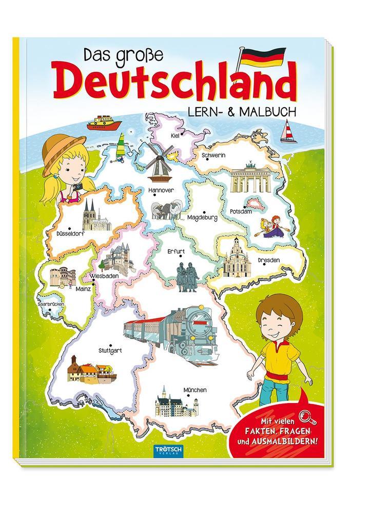 Das große Deutschland Lern und Malbuch als Buch (kartoniert)