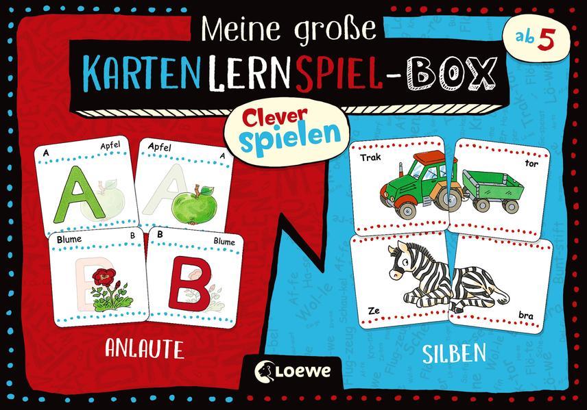 Clever spielen - Meine große KartenLernSpiel-Box - Anlaute/Silben als Spielware