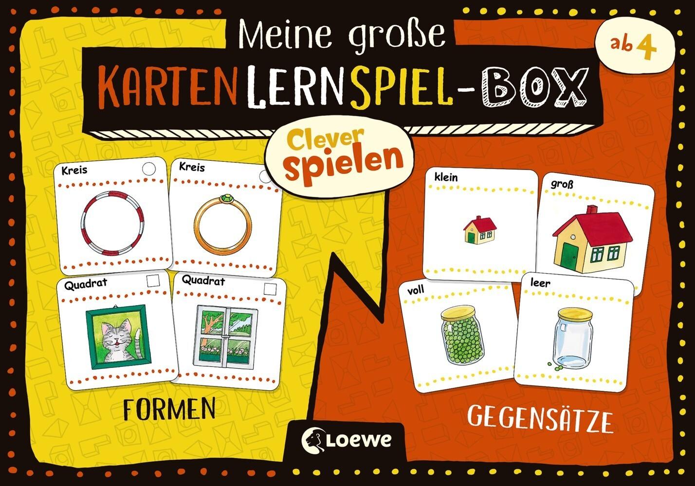 Clever spielen - Meine große KartenLernSpiel-Box - Formen/Gegensätze als Spielware