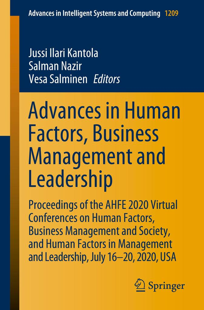 Advances in Human Factors, Business Management and Leadership als Buch (kartoniert)