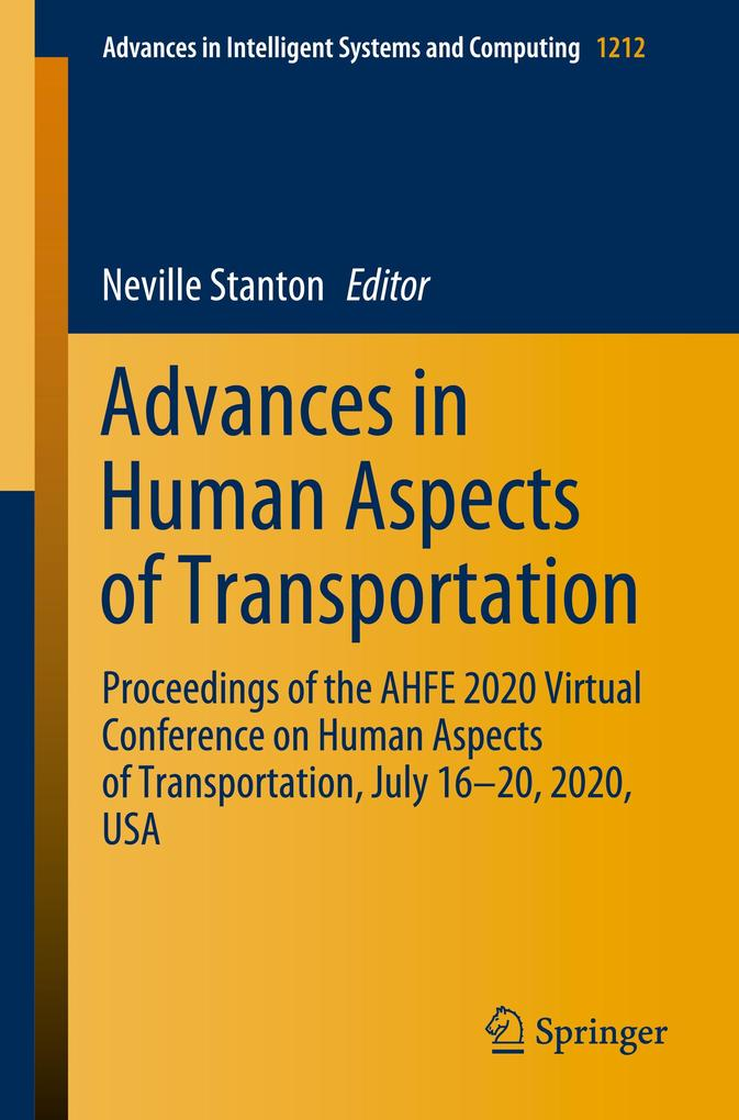 Advances in Human Aspects of Transportation als Buch (kartoniert)