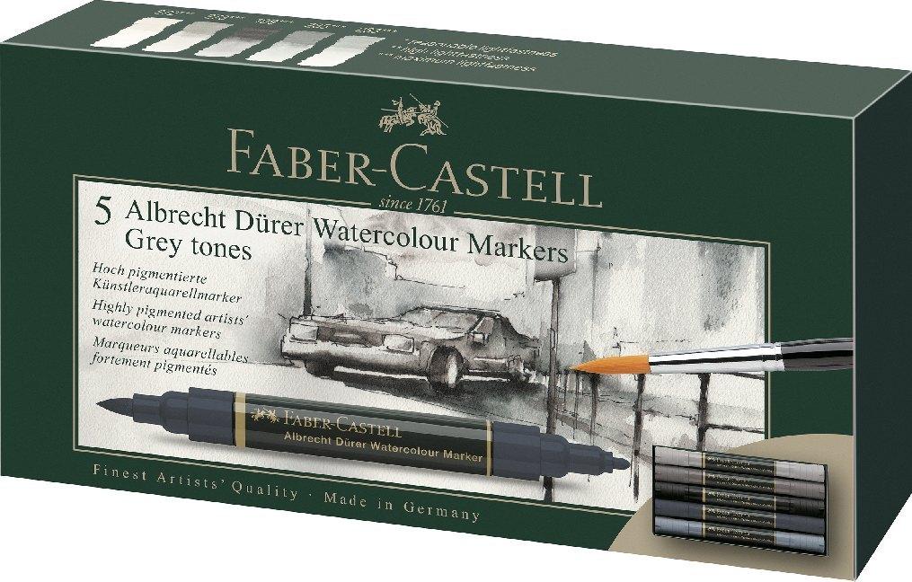 Faber-Castell Aquarellmarker Albrecht Dürer, 5er Etui, Grautöne als Sonstiger Artikel
