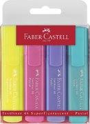 Faber-Castell Textliner 46 Superflourescent + Pastell, 4er Etui