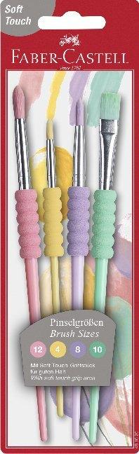 Faber-Castell Pinsel 4er Set Pastell Softgriffstück BK als Sonstiger Artikel