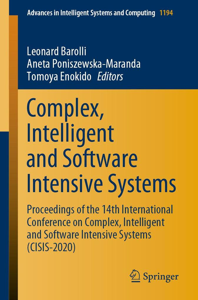 Complex, Intelligent and Software Intensive Systems als eBook pdf