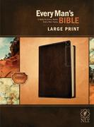 Every Man's Bible Nlt, Large Print, Deluxe Explorer Edition (Leatherlike, Rustic Brown)