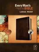 Every Man's Bible Nlt, Large Print, Deluxe Explorer Edition (Leatherlike, Rustic Brown, Indexed)