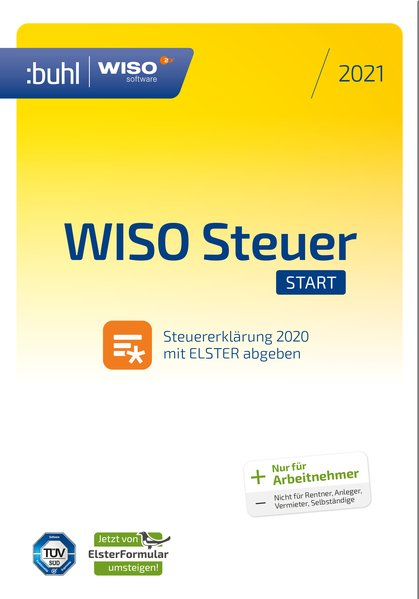 WISO Steuer-Start 2021. DVD-Box als Software