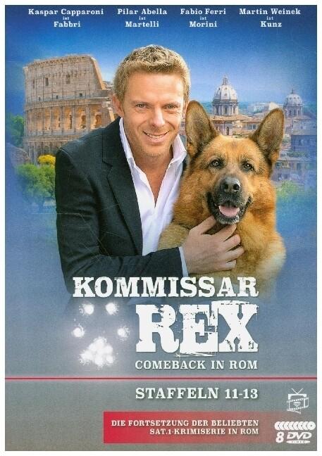 Kommissar Rex - Comeback in Rom (Staffeln 11-13). (Die Fortsetzung der SAT.1-Krimiserie in Rom) (9 DVDs) als DVD