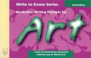 Nonfiction Writing Prompts for Secondary Art
