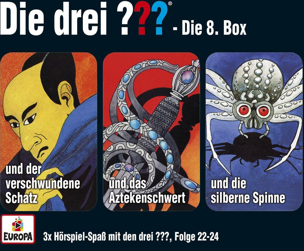 die drei box 08 folgen 22 24 drei fragezeichen 3 cds h rbuch alfred hitchcock. Black Bedroom Furniture Sets. Home Design Ideas