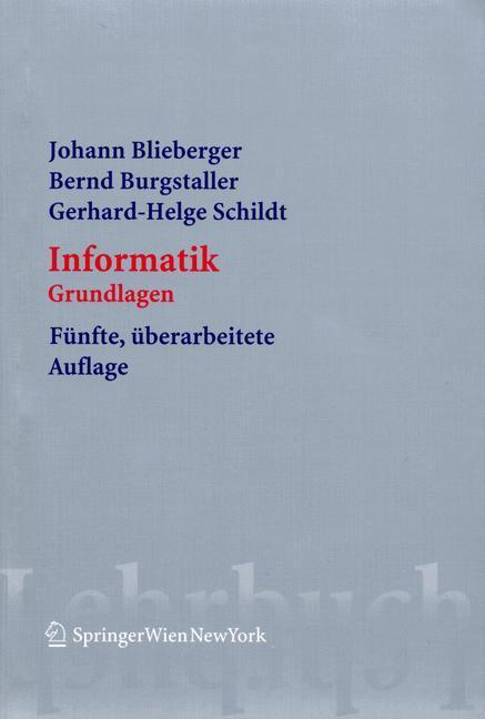 Informatik als Buch von Johann Blieberger, Bern...