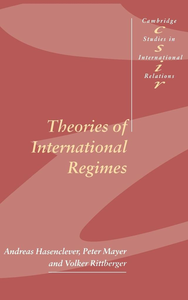 Theories of International Regimes als Buch (gebunden)