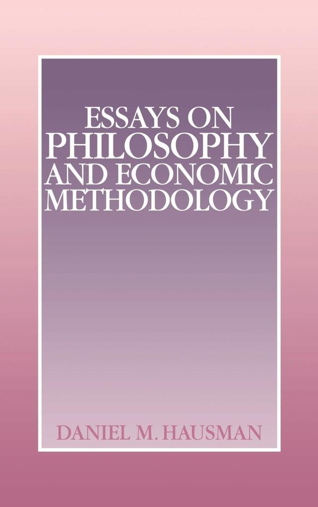Essays on Philosophy and Economic Methodology als Buch