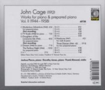 Works for Piano & Prepared Piano-Vol.2 als CD