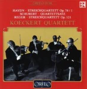 Streichquartette op.74,1/op.121/Quartettsatz D 703 als CD