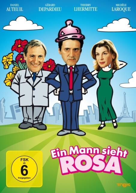 Ein Mann sieht rosa als DVD