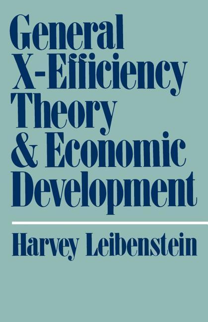 General X-Efficiency Theory and Economic Development als Taschenbuch