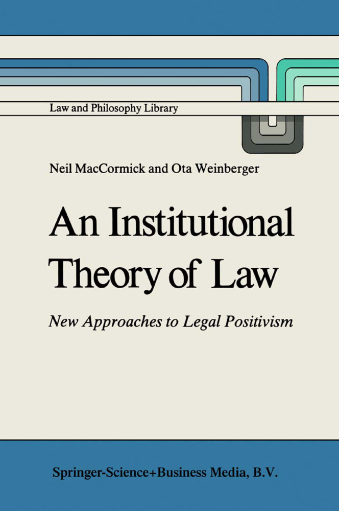 An Institutional Theory of Law als Buch (gebunden)