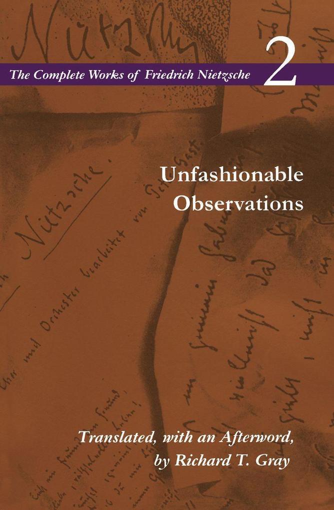 Unfashionable Observations als Taschenbuch