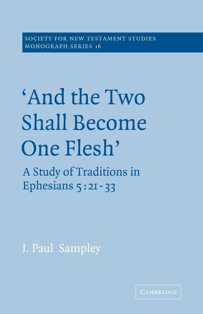 'And the Two Shall Become One Flesh' als Taschenbuch