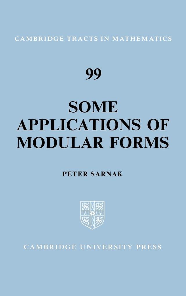 Some Applications of Modular Forms als Buch (gebunden)