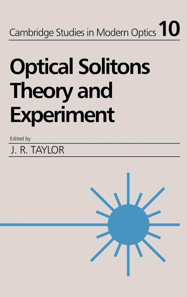 Optical Solitons als Buch (gebunden)