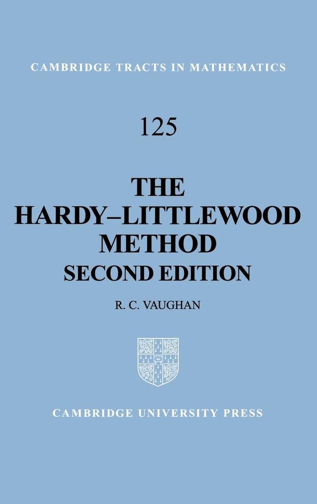 The Hardy-Littlewood Method als Buch (gebunden)