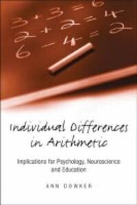 Individual Differences in Arithmetic als Buch (gebunden)