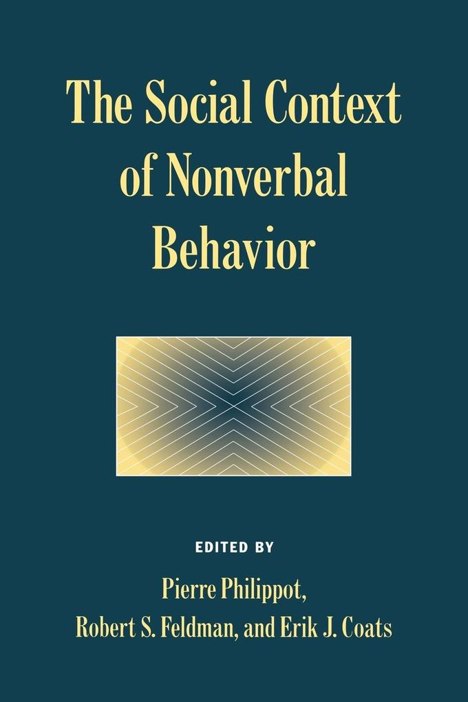 The Social Context of Nonverbal Behavior als Taschenbuch
