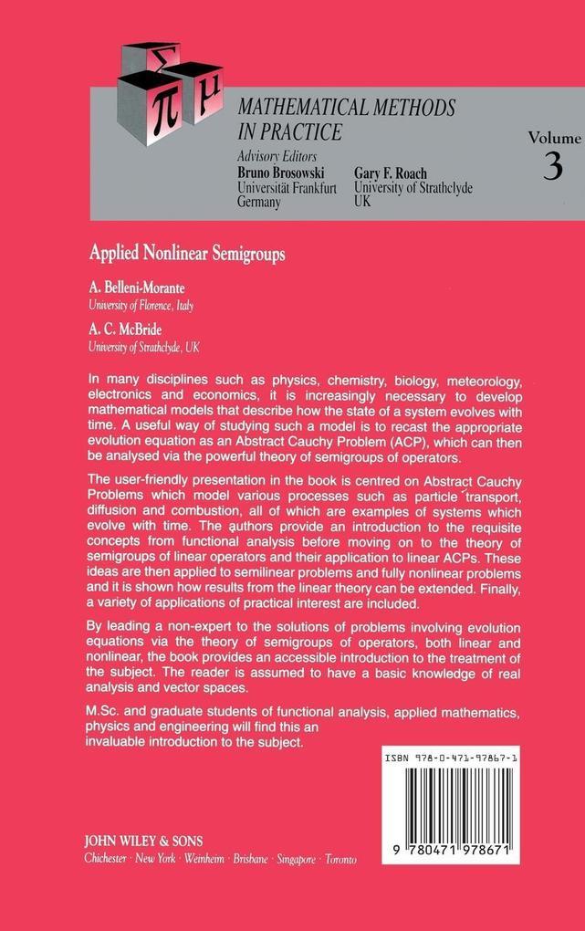 Applied Nonlinear Semigroups als Buch (gebunden)