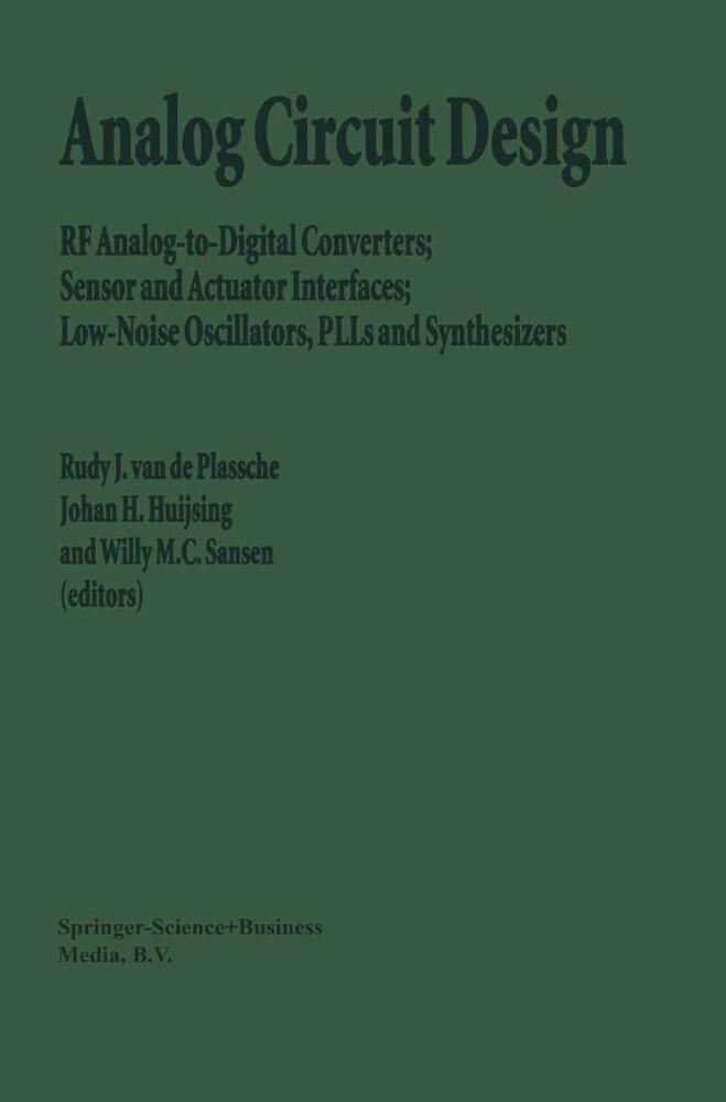 Analog Circuit Design als Buch (gebunden)
