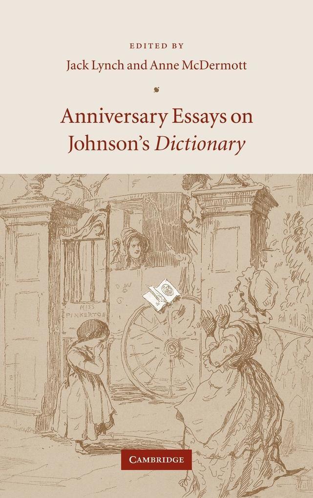 Anniversary Essays on Johnson's Dictionary als Buch (gebunden)