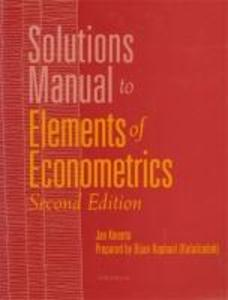 Solutions Manual to Elements of Econometrics als Taschenbuch