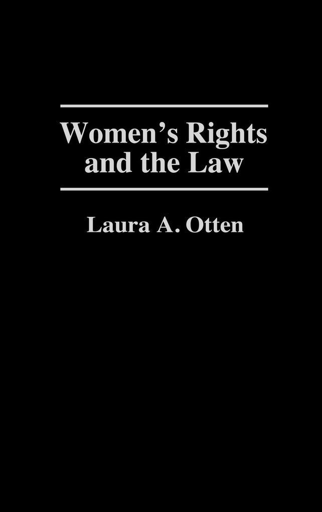 Women's Rights and the Law als Buch (gebunden)