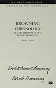A Browning Chronology: Elizabeth Barrett and Robert Browning